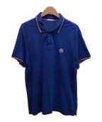 MONCLER(モンクレール)の古着「ワンポイントポロシャツ」 ブルー