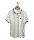 MONCLER(モンクレール)の古着「ポロシャツ」 ホワイト