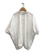 ARTS&SCIENCE(アーツアンドサイエンス)の古着「ワイドプルオーバーシャツ」|ホワイト