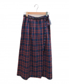 Hysteric Glamour(ヒステリックグラマー)の古着「スタッズ付巻スカート」|レッド
