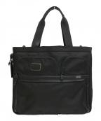 TUMI(トゥミ)の古着「エクスパンダブル トートバッグ」|ブラック