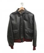 BUZZ RICKSON'S(バズリクソンズ)の古着「赤リブホースハイドA-2フライトジャケット」|ブラウン