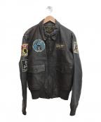 COCKPIT USA(コックピットユーエスエー)の古着「G-1レザーフライトジャケット」|ブラウン