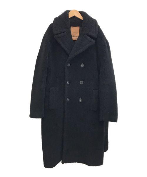 SOLLECITI(ソレシティ)SOLLECITI (ソレシティ) ボアロングコート ブラック サイズ:48の古着・服飾アイテム