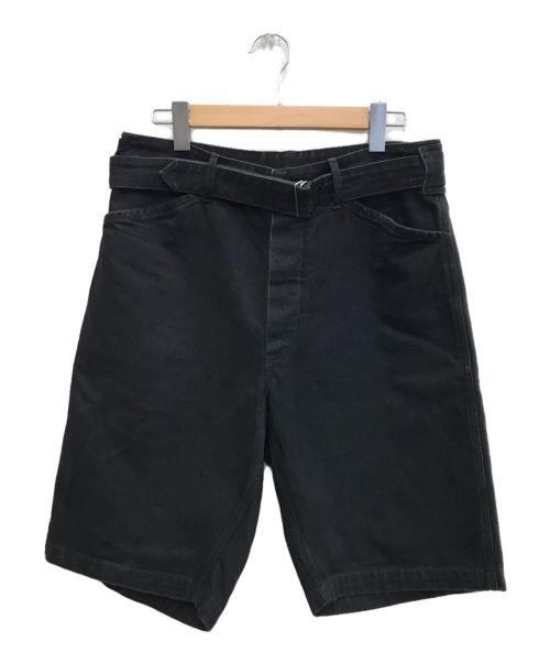 COMOLI(コモリ)COMOLI (コモリ) 17SSベルテッドデニムショートパンツ ブラック サイズ:2の古着・服飾アイテム