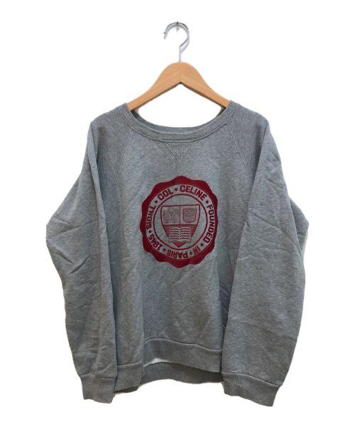 CELINE(セリーヌ)CELINE (セリーヌ) 20SSカレッジロゴスウェット グレー サイズ:Lの古着・服飾アイテム