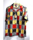 Star OF HOLLYWOOD(スターオブハリウッド)の古着「オープンカラーシャツ」|レッド