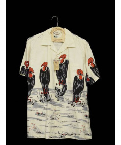 STAR OF HOLLYWOOD(スターオブハリウッド)の古着「オープンカラーシャツ」|ベージュ
