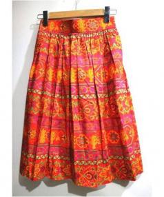 YVES SAINT LAURENT(イヴサンローラン)の古着「総柄スカート」|ピンク