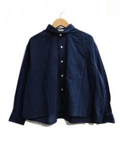 INDIVIDUALIZED SHIRTS(インディビジュアライズドシャツ)の古着「コーデュロイシャツ」|ネイビー
