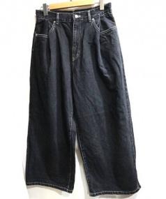 Edwina Horl(エドウィナホール)の古着「タックワイドデニム」|ブラック