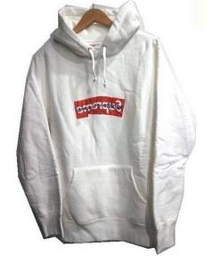 SUPREME×COMME des GARCONS SHIRT(シュプリーム×コムデギャルソンシャツ)の古着「Box Logo Hooded Sweatshirt」|ホワイト