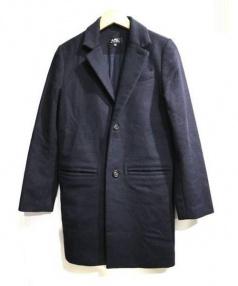 A.P.C.(アーペーセー)の古着「チェスターコート」|ネイビー