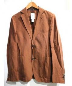 PAL ZILERI(パルジレリ)の古着「リネンシルクジャケット」|ブラウン