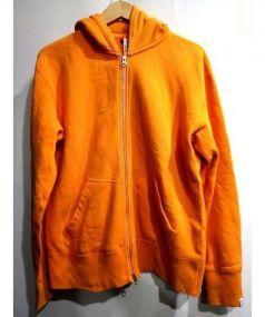 LOOPWHEELER(ループウィラー)の古着「ジップパーカー」 オレンジ