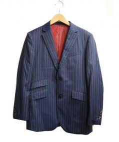 BLACK LABEL CRESTBRIDGE(ブラックレーベルクレストブリッジ)の古着「3ピーススーツ」 ネイビー×ホワイト