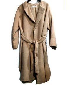 rukkilill(ルッキリル)の古着「ウールベルテッドガウンコート」|ベージュ
