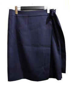 ADORE(アドーア)の古着「ラップスカート」|ネイビー