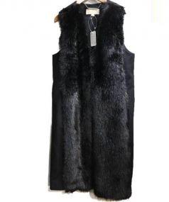 MICHAEL KORS(マイケルコース)の古着「フェイクファー切替ロングベスト」|ブラック