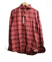 Finamore(フィナモレ)の古着「チェックシャツ」|レッド