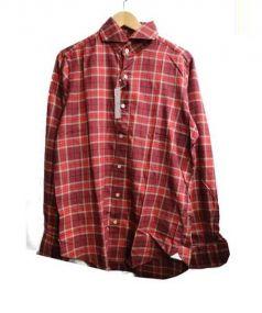 Finamore(フィナモレ)の古着「チェックシャツ」 レッド