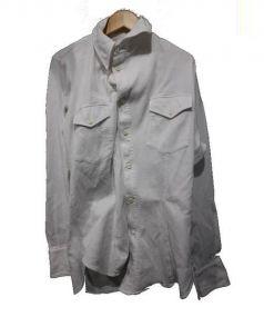 vivienne westwood MAN(ヴィヴィアン ウエストウッド マン)の古着「アシンメトリーストレッチシャツ」|ホワイト