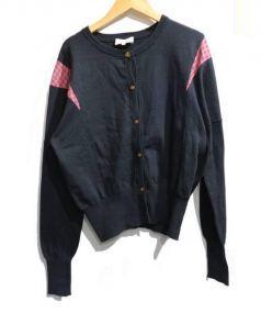 Vivienne Westwood RED LABEL(ヴィヴィアンウエストウッド レッドレーベル)の古着「チェック切替カーデ」|ブラック