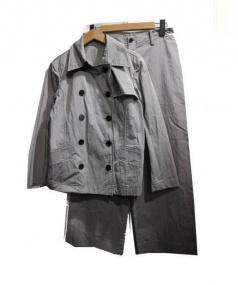 L'EQUIPEE YOSHIE INABA(レキペ ヨシエ イナバ)の古着「コットンナイロンジャケットセットアップ」|グレー