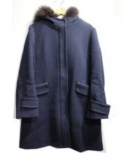 ef-de(エフデ)の古着「フーデッドコート」 ネイビー