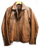 BARK TANNAGE(バークタンネイジ)の古着「ゴートスキンレザージャケット」|ブラウン