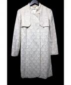 VIVIENNE TAM(ヴィヴィアン・タム)の古着「総柄コート」|ホワイト