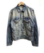 Denim & Supply Ralph Lauren(デニムアンドサプライ ラルフローレン)の古着「加工デニムジャケット」|インディゴ