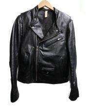 TAKEO KIKUCHI(タケオ キクチ)の古着「ジップアップレザージャケット」|ブラック