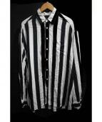 WHITELAND BLACKBURN(ホワイトランドブラックバーン)の古着「ストライプシャツ」|ブラック