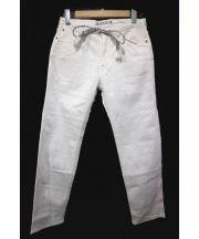 SASQUATCHfabrix.(サスクワッチ ファブリックス)の古着「TAPERD SLIM PANTS」|ホワイト