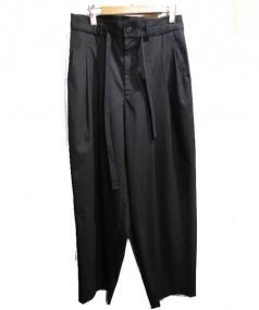 Adam et Rope(アダムエロペ)の古着「3タックイージーワイドパンツ」|ブラック