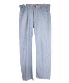 JUNYA WATANABE COMME des GARCONS(ジュンヤワタナベ コムデギャルソン)の古着「ストライプパンツ」|ブルー×ホワイト