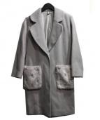 Lily Brown(リリー ブラウン)の古着「フェイクファービジューコート」|ライトグレー
