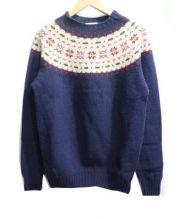 INVERALLAN(インバーアラン)の古着「フェアアイルセーター」|ネイビー