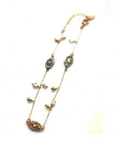 KAORU(カオル)の古着「装飾石ブレスレット」|ゴールド