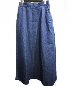 nesessaire(ネセセア)の古着「スカラップポケットスカート」|インディゴ
