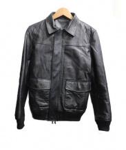 ABAHOUSE(アバハウス)の古着「ゴートスキンレザージャケット」|ブラック