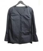 JANE SMITH(ジェーンスミス)の古着「比翼ブロードシャツ」|ブラック