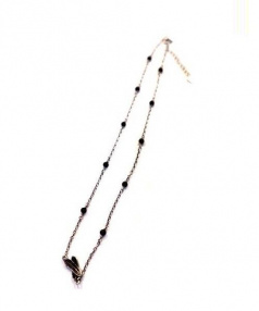 JUSTIN DAVIS(ジャスティンデイビス)の古着「Loiseau Necklace 38cm」 シルバー
