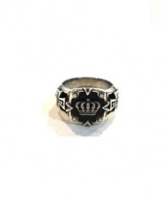 JUSTIN DAVIS(シャスティンデイビス)の古着「Square Balance Crown Ring」|シルバー