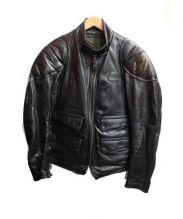 HAROLDS GEAR(ハロルズギア)の古着「カウレザージャケット」 ブラック
