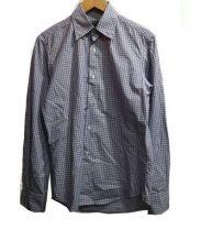 GUY ROVER(ギローバー)の古着「ボタンダウンチェックシャツ」|ブルー×ホワイト