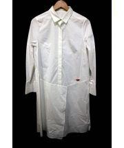 Diagram(ダイアグラム)の古着「ロングシャツチュニック」 ホワイト