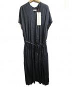 latelier du savon(アトリエドゥサボン)の古着「リネンワンピ」|ブラック