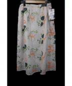 bulle de savon(ビュル デ サボン)の古着「刺繍スカート」|アイボリー
